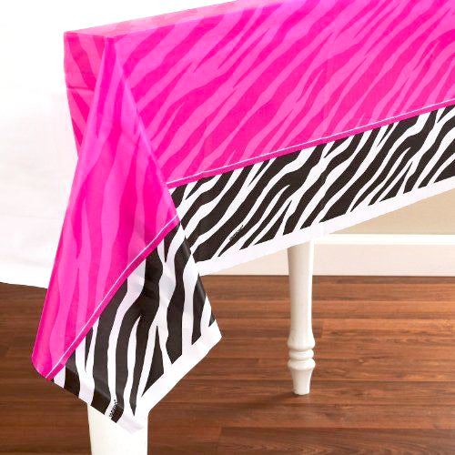 Zebra Party - Plastic Table Cover