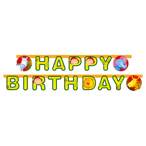 Safari - Happy Birthday Banner