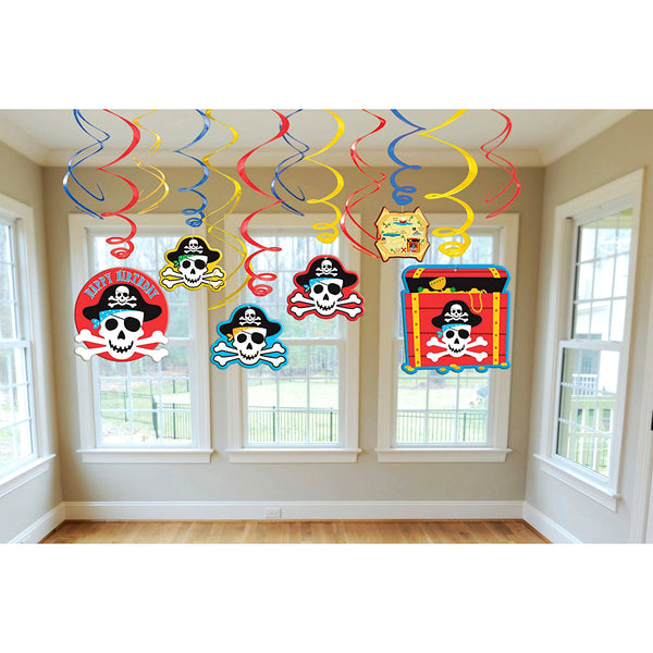 Pirate party - Swirl Decorations