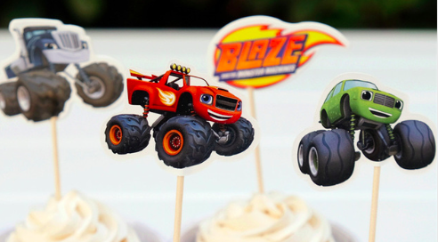 Blaze Cupcake Toppers