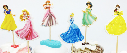 Pretty Princess Cupcake Toppers