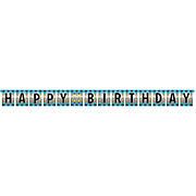 Banner - Birthday Pop Happy Birthday Jointed Foil Banner
