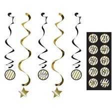 Black and Gold Danglers