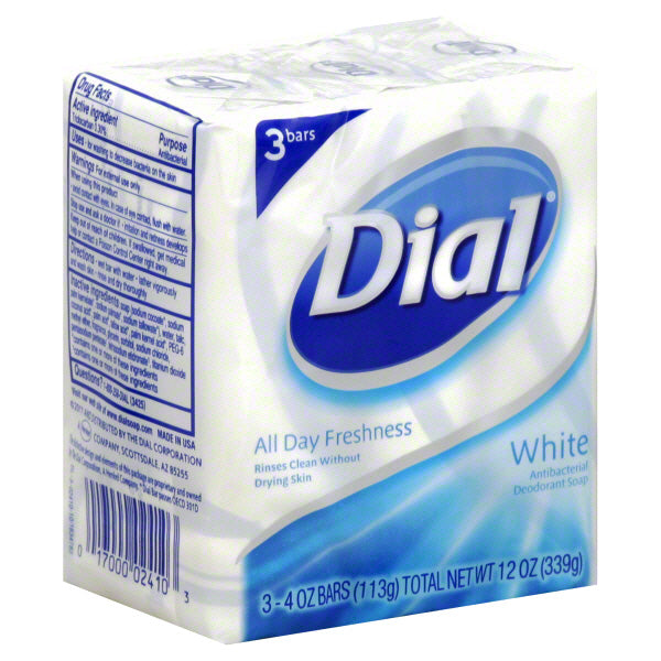 Dial Bar Soap White