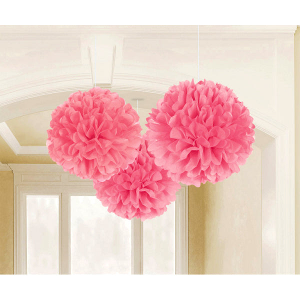 Fluffy Pink Paper Decorations
