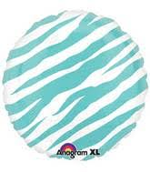 Robins Egg Blue Zebra Print Balloon