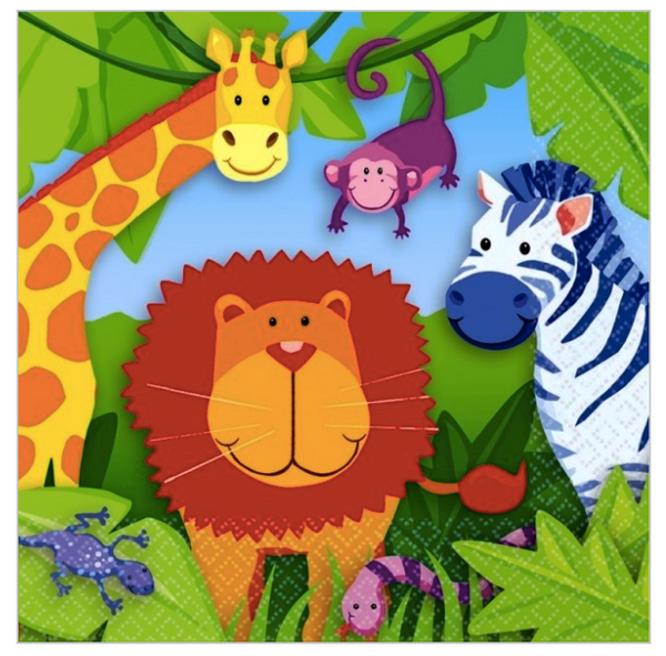 Jungle Animals - Beverage Napkin