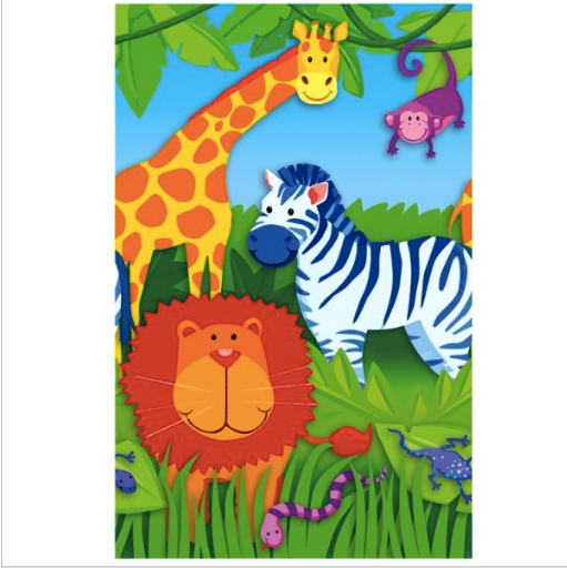 Jungle Animals - Paper Table Cover