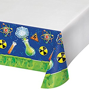 Mad Scientist Party Table Cover