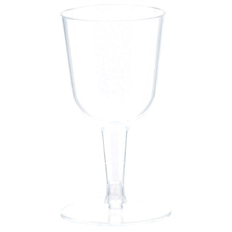 Clear Mini Wine Glass (Plastic)