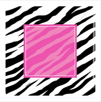 Zebra Party - Square Paper Plates