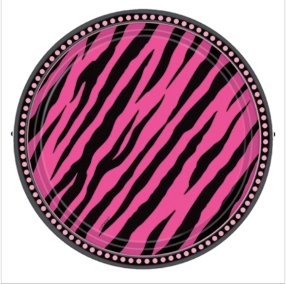 Zebra Party - Round Paper Plate
