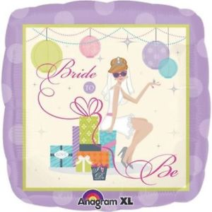 Square Bride to Be Balloon