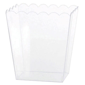 Clear Plastic Scalloped Container - Medium