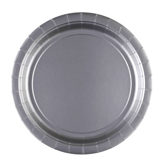 Paper Plate - Silver