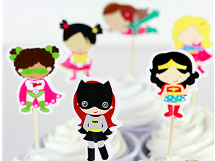 Superhero Girls Cupcake toppers