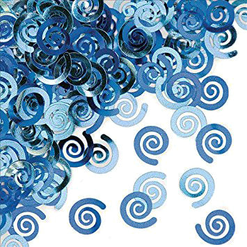 Confetti - True Blue Swirls