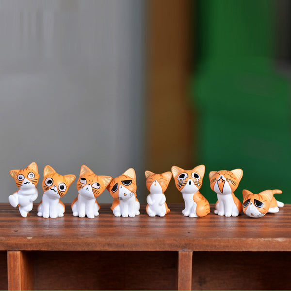 1 pc!! Style Random Cheese Cat Miniature Figurines Cute Lovely Model Kids Toys PVC  figure world Action Toy Figures Style-random - Free + Shipping