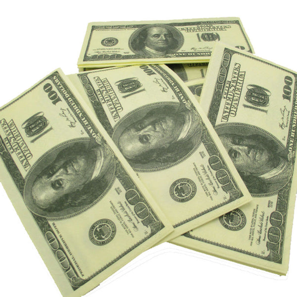 100$ Dollars Napkin Toilet Tissue US Dollar Bill Paper Towel - Free + Shipping