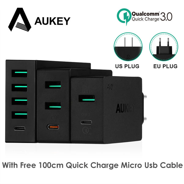 Mobile Phone Charger Type C Quick Charge 3.0 USB C Desktop Charge Universal Smart Wall Charger For Galaxy S8 Xiaomi iPhone