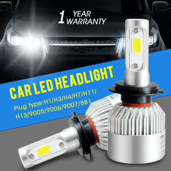 Auto Car LED Headlights 6500K 72W 8000LM