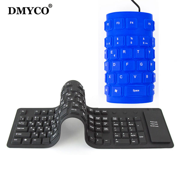 Wired USB Interface silicon keyboard Waterproof for PC Desktop Laptop
