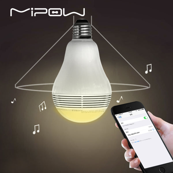 Bluetooth Light Shape Speaker, PLAYBULB Lite Smart LED Lights, Wireless APP Control Lamp Audio for iPhone 7/8 Andriod E27