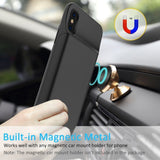 Portable Charging Case For iphone X 3600mAh 6000mAh Battery Power Bank for iphone X Battery Charger Case  with Power Bank Gift