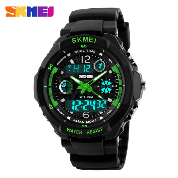 Men Sports Watches Digital LED Quartz Military Wristwatches rubber strap 2017