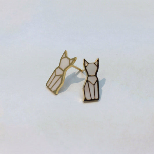 Paw-Inspiring Earrings, 18k Gold Plated, Earrings, cat, kitten, jewelry