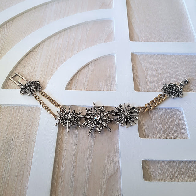 Gold and silver starry night link bracelet - Chubby Precious Accessories