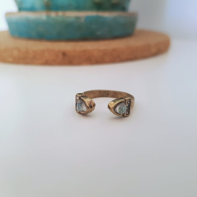 Gold and multi festival antique gold ring - Chubby Precious Accessories