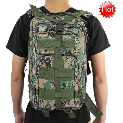 Outdoor Tactical Backpack Camping Hiking Trekking
