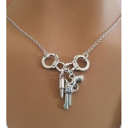 FREE Handcuff & Gun Necklace - Just Help Us With Shipping!