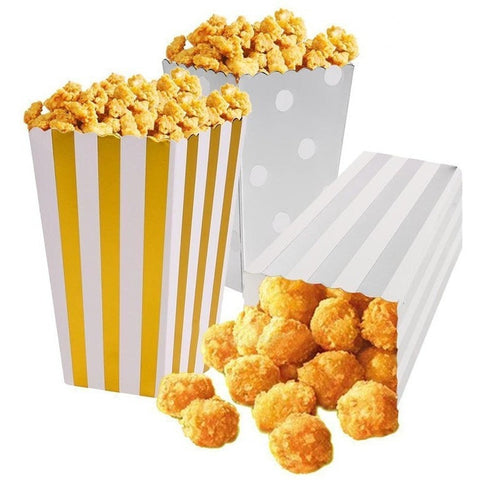 Metalic Party Paper Popcorn Boxes Candy