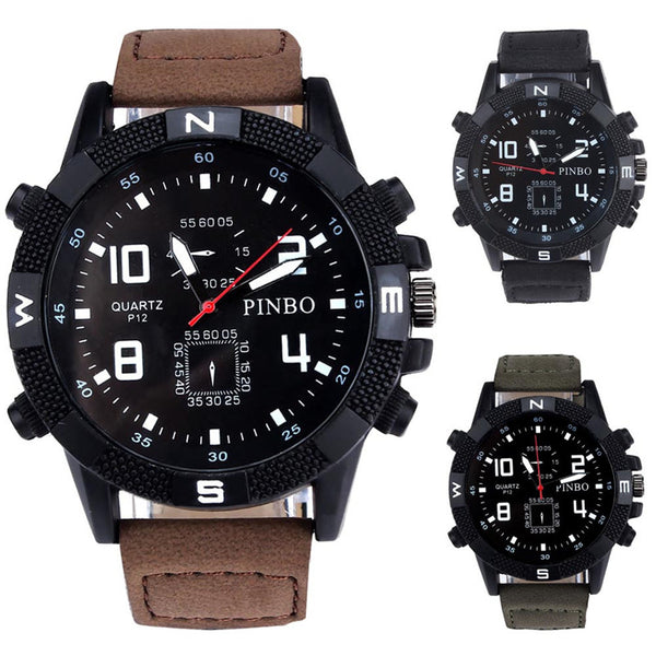 Big Dial Canvas Strap Mens Watch