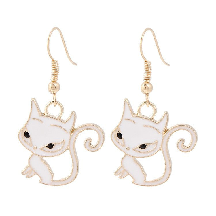 Cute Long Tail Cat Earring
