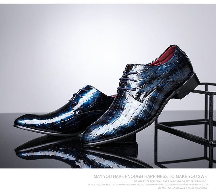 Patent Leather Luxury Groom Wedding Shoes