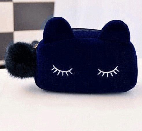 Catty Cosmetic and Coin Hand Bag