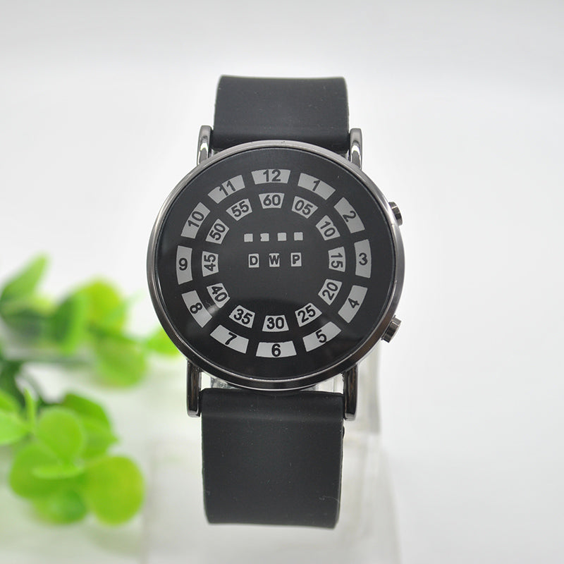 Black Cool LED Uncommon Men Wristwatch