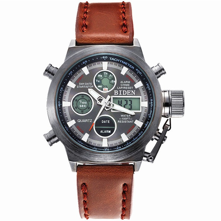 Led Dual Luxury Dial Mens Watch