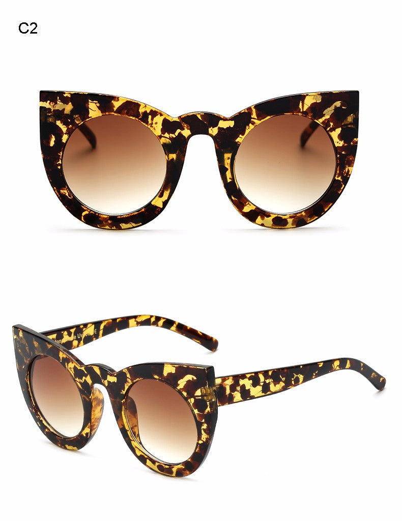 Big Frame Chunky Cat Eye Sunglasses
