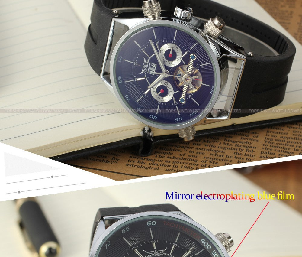 Automatic Silver Chronograph mens Watch