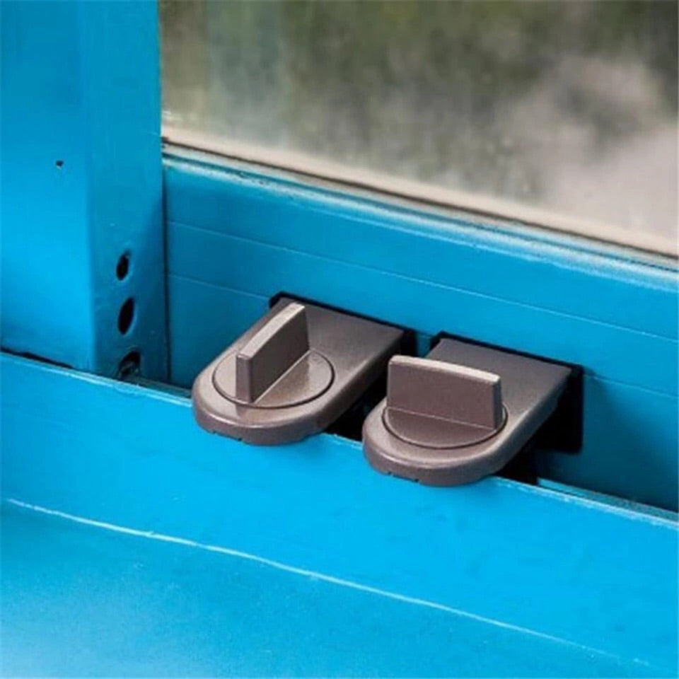 2 pcs Anti-Theft locks for sliding doors and windows .