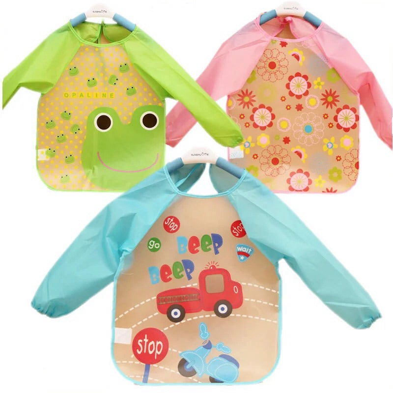 Long Sleeve Baby Bib , Saliva Apron for kids
