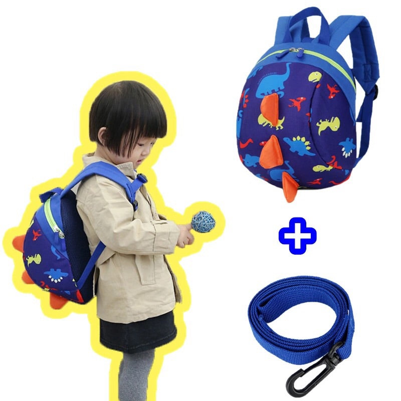 Anti-lost unisex dinosaur backpacks for kindergarten school kids