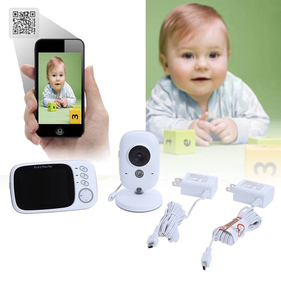 Baby security camera and monitor .. high resolution with night vision and temperature monitoring