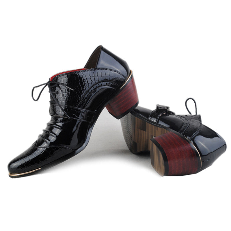 Luxurious Pointed  Square Heel Mens Shoes