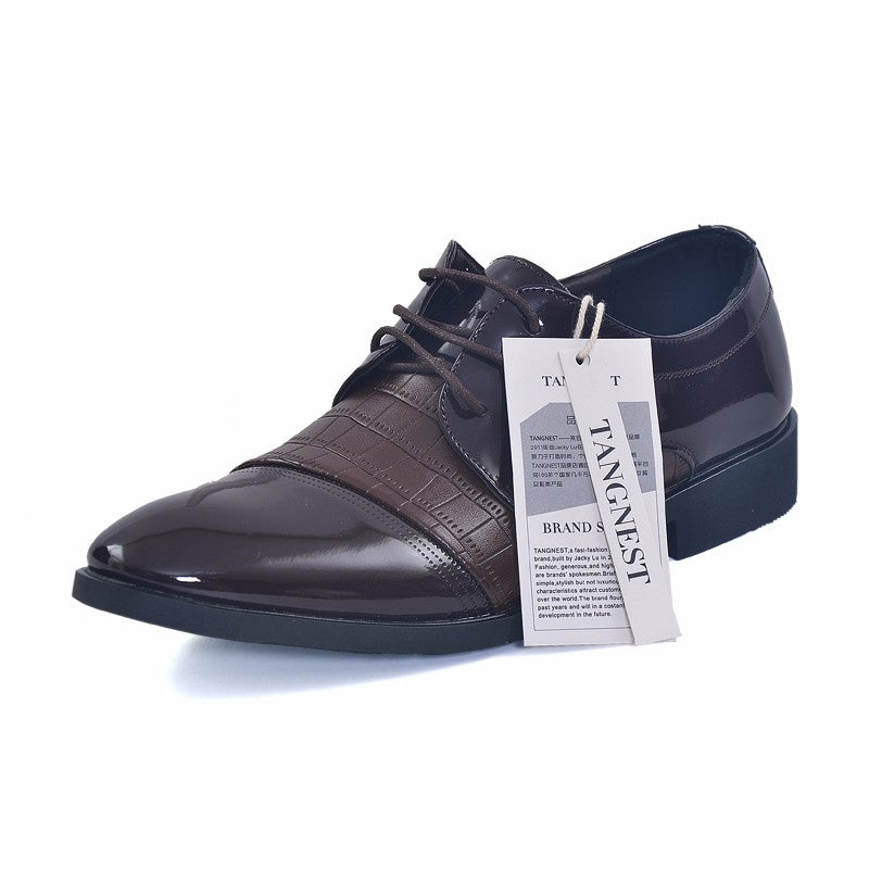 Business Men PU Leather British Platform Pointed Toe Shoe