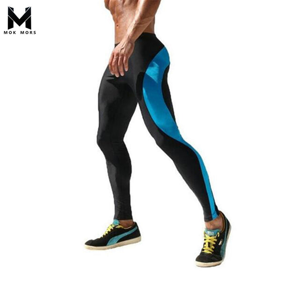 MOK MORS M 2017 Men Compression Track Pants High Stretch Mens Joggers Polyester Tights Men Pencil Pants Tracksuit Bottoms M-XXL